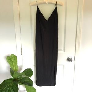 Fitted Dress with Leg Slit